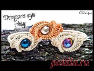Dragons eye wirework ring