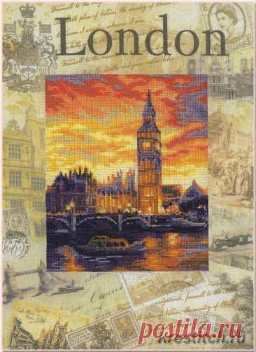 Города мира. Лондон (арт. 0019 РТ Риолис) купить в Stitch и Крестик