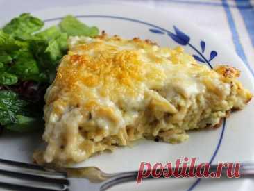 Рецепт сырной фриттаты с пастой