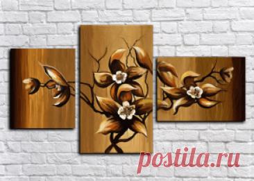 ¡Comprar los cuadros modulares las flores + el regalo todo!