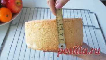 Самый простой Бисквит из 3-х ингредиентов! Пышно и вкусно!