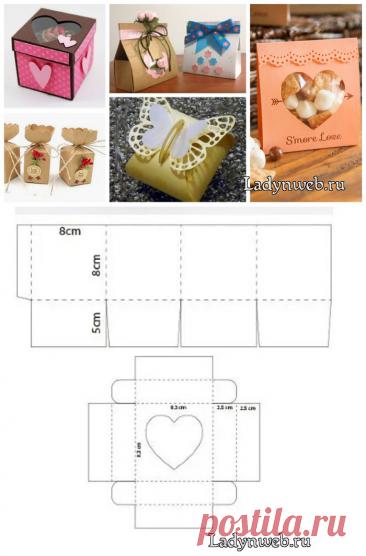 Подарочные коробки своими руками шаблоны | Ladynweb.ru