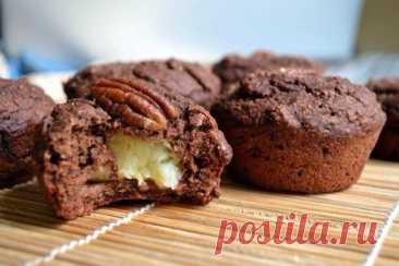 Шоколадно-банановые овсяные кексы