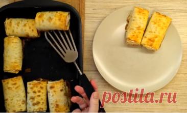 Вкусные, простые и быстрые пирожки из лаваша с капустной начинкой в духовке