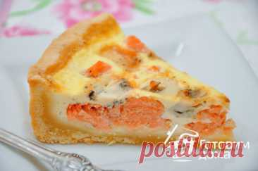 Salmon and cheese pie (kish Lauren) - the step-by-step recipe from a photo on we Prepare houses