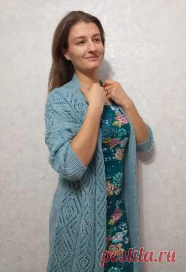"""Связала в подарок кардиган по мотивам """"французской кофточки"""" (Вязание спицами) – Журнал Вдохновение Рукодельницы"""