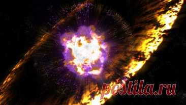 Земля летит сквозь обломки взорвавшейся звезды
