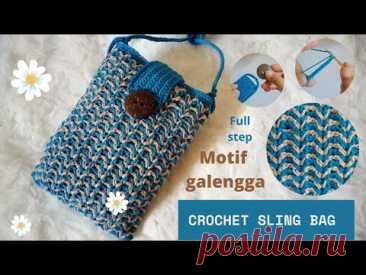 crochet | membuat sling-bag rajut |sling-bag