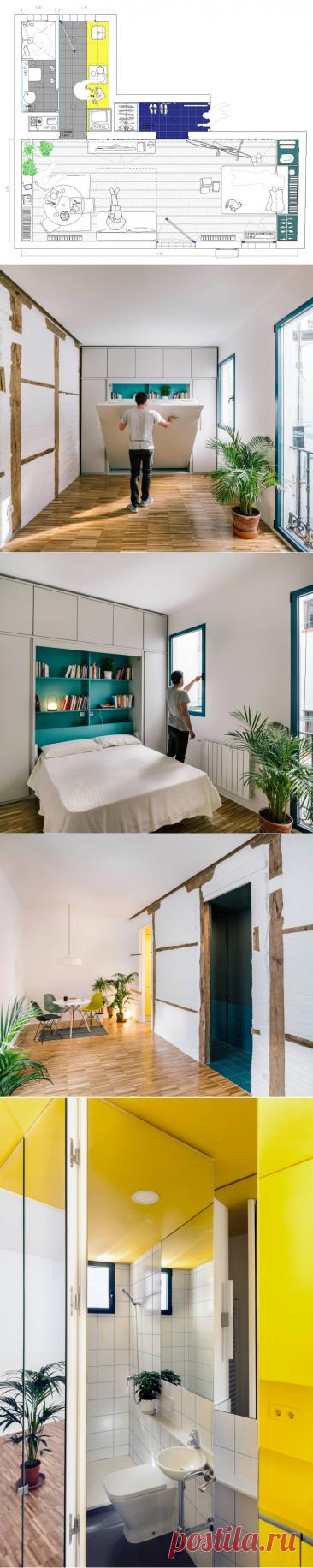 Houzz Испания: Квартира 30 кв.м для молодого человека | Houzz Россия