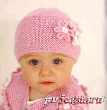 Детские шапочки, шарфики и береты спицами или крючком с описанием - Результаты из #140