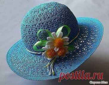 Шикарная шляпка крючком
