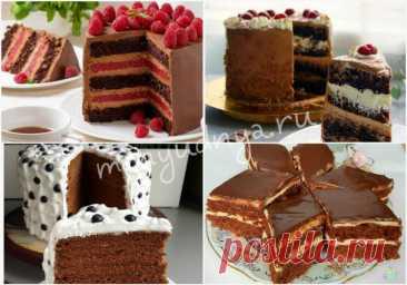 Подборка самых вкусных рецептов шоколадных тортов - Меню Дня - menyudnya.ru