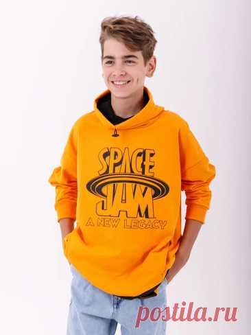 Толстовка для мальчика Orby хлопковая футер Оранжевый 7-14 лет купить в интернет-магазине   Твой Стиль 223364
