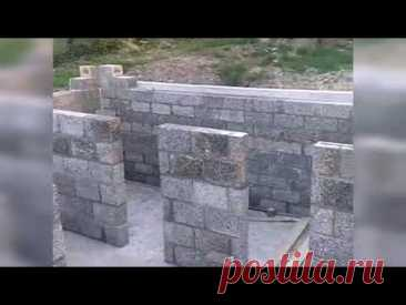 Строим дом из Арболитовых блоков в Пшаде Краснодарского края, строительство домов под ключ