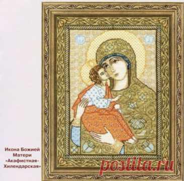 Образ Богородицы для вышивки крестиком бисером