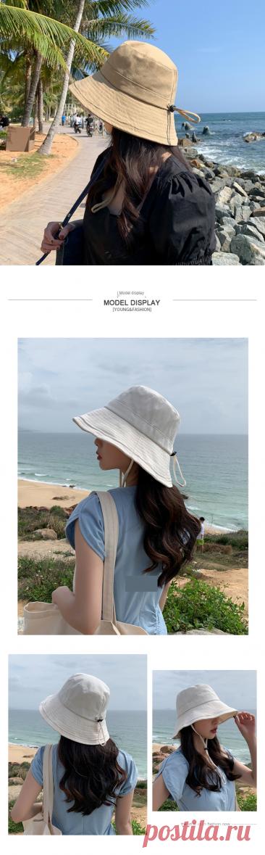 Панама на шнуровке для мужчин и женщин, однотонная шляпа в стиле хип хоп, Пляжная шапка от солнца, для рыбалки, в стиле унисекс, черная белая|Мужская панама| | АлиЭкспресс