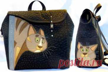 Интересные сумки с удивительными котами создаёт этот мастер. Посмотрите непременно, советую