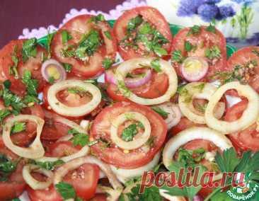 """Маринованные помидоры с луком """"К мясу"""" – кулинарный рецепт"""