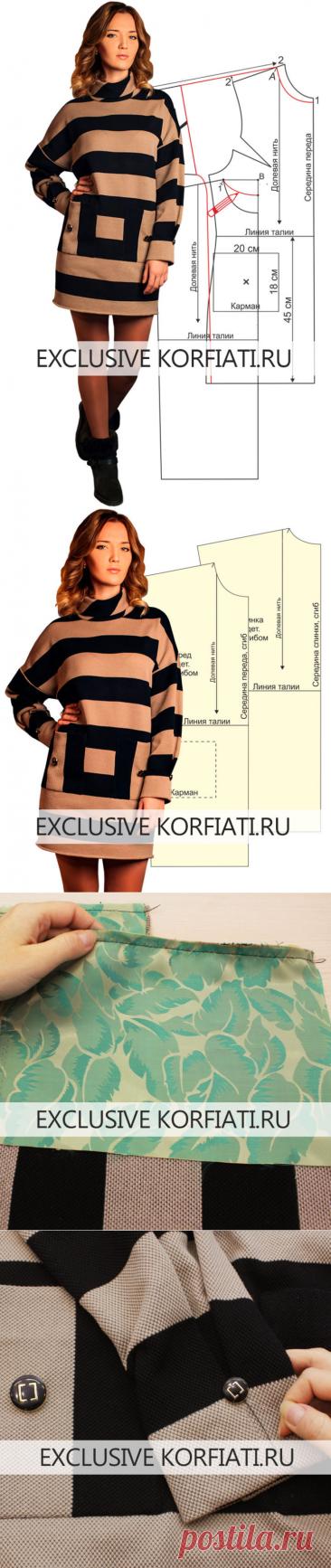 Выкройка теплого платья из трикотажа от Анастасии Корфиати