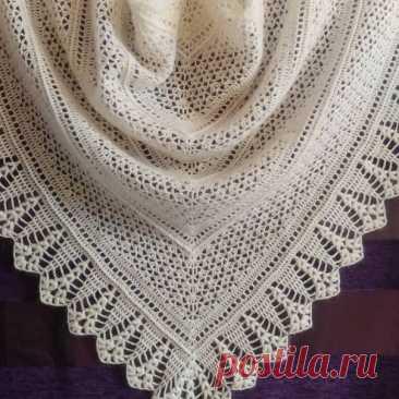 Идея. Красивая шаль  #идея_@crochet_group #шаль