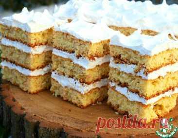 """Торт """"Львовский"""" с белковым кремом – кулинарный рецепт"""