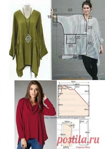Блуза, туника , кардиган и брюки - простые выкройки - ЖЕНСКИЙ МИР - медиаплатформа МирТесен