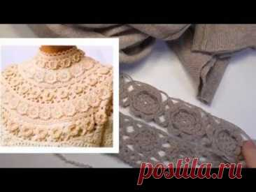 The pullover with the Lacy coquette a hook Is remade old things