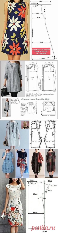 7 выкроек летних платьев, которые легко сшить своими руками | Рукоделие