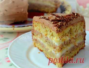 """Мягкий и простой торт """"Вашингтон"""" - Секрет вкуса - sekretvkusa.ru.com"""