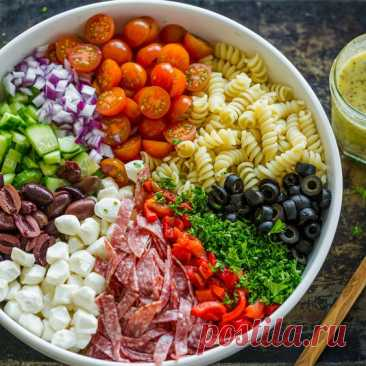 Pasta Salad is perfect for meal prep because it can be made ahead. The flavors of this Italian Pasta Salad are so satisfying with rotini pasta, salami, mozzarella cheese, olives and the best ever…