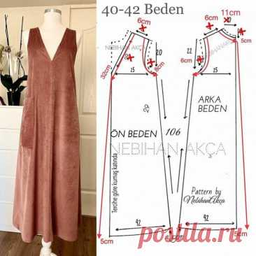 Выкройка платья в стиле UNIGLO Модная одежда и дизайн интерьера своими руками