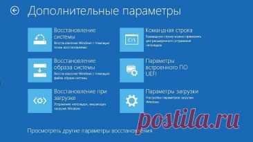 Выбор действия и ВСЕ ВИДЫ ВОССТАНОВЛЕНИЯ СИСТЕМЫ Windows 10