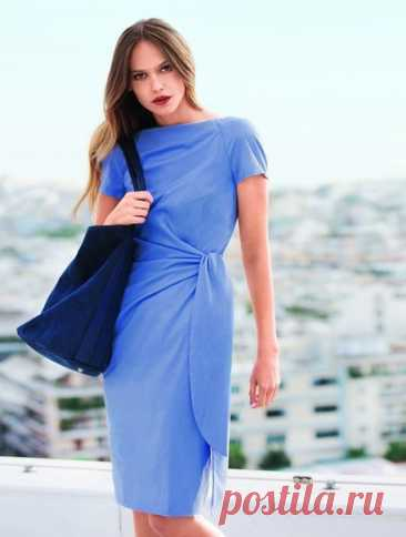 Женское платье  Размеры выкройки: 34-42 европейские