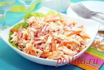 Салат «Красное море» Простой и очень вкусный салат «Красное море» составит конкуренцию на вашем столе всем праздничным салатам.