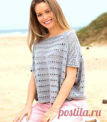 Пуловер в стиле оверсайз - Вязаные модели спицами для женщин