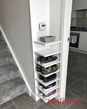 Обувница в малое свободное пространство! Отличная идея