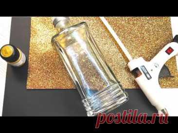 Новая идея поделки на Хэллоуин из стеклянных бутылок   Декор на хэллоуин своими руками - YouTube