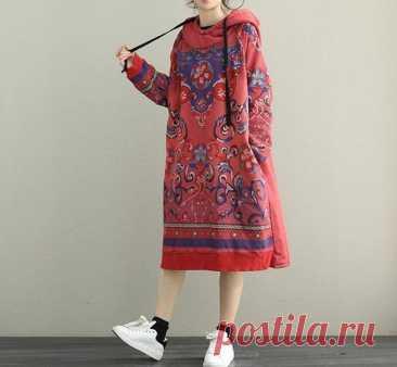 Women Midi Dress Longsleeved Dress Large Size Dress Boho   Etsy