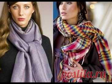 ¿CÓMO ATAR LA BUFANDA SOBRE EL CUELLO? ¿- 2018 \/ How to tie a scarf? \/ Wie man einen Schal zu binden