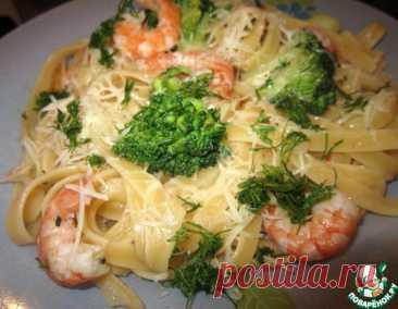 Паста с креветками и брокколи – кулинарный рецепт