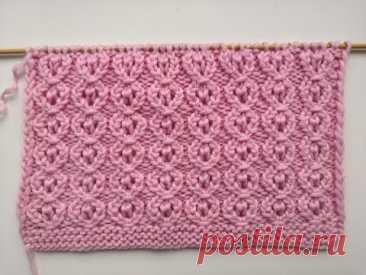 Красивый ажурный узор спицами для вязания джемпера, кардигана, топа