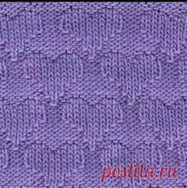 Приятный узор для вязания спицами