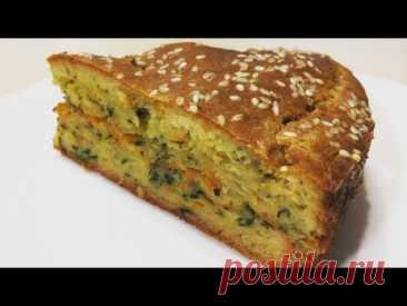 ЗАЛИВНОЙ пирог с КАПУСТОЙ!🥧🥬🥕ОЧЕНЬ вкусный!! Jellied cabbage pie