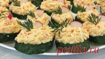 Закуска из свежих огурцов - Лучший сайт кулинарии