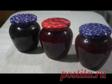 Заготовка малины и черники