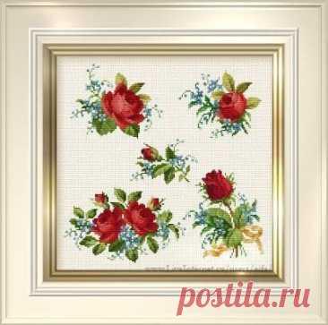 Вышивка прекрасных роз