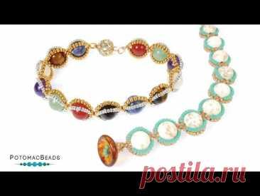 Empty Nest Bracelet - DIY Jewelry Making Tutorial by PotomacBeads