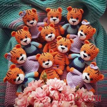 Тигрята амигуруми схема крючком | Hi Amigurumi