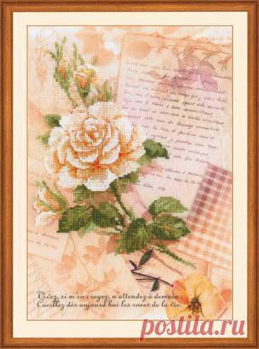 Письма о любви. Роза (арт.0035 РТ Риолис) купить в Stitch и Крестик