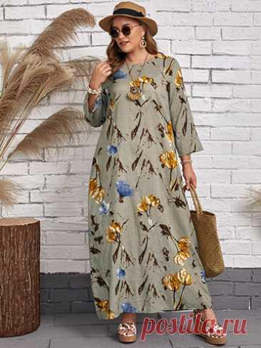 Летние платья Sunshine dresses ЛЕТНЕЕ ПЛАТЬЕ С ЦВЕТОЧНЫМ ПРИНТОМ А1627 Размеры 40,42,44,46,48,50,52,54,56,58 Состав 95% хлопок, 5% эластан